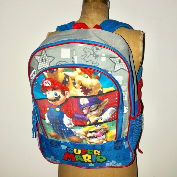 c86867bf009d Super Mario Luigi go cart kids backpack. M 5bae5e3504e33d740f4a7000